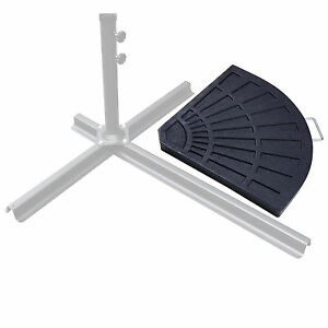 black patio umbrella base extra weights outdoor table pole resin rh ebay com outdoor furniture cover weights garden furniture weights