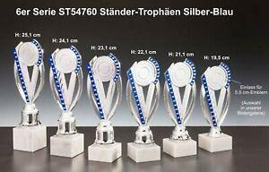 6er-Serie-Pokale-ST54760-Staender-Trophaeen-Silber-Blau-inkl-Gravur-48-90-EUR