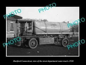 OLD-LARGE-HISTORIC-PHOTO-OF-HARTFORD-CONNECTICUT-THE-HARTFORD-WATER-TRUCK-c1920
