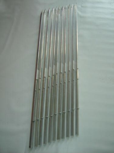 Estacas de valla empalarlo aluminio 10 barras T-perfil pilotes plástico weidezaunpfähle