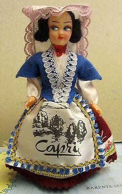 Puppe , Trachtenpuppe, Reiseandenken, Andenken  13 cm groß aus Capri