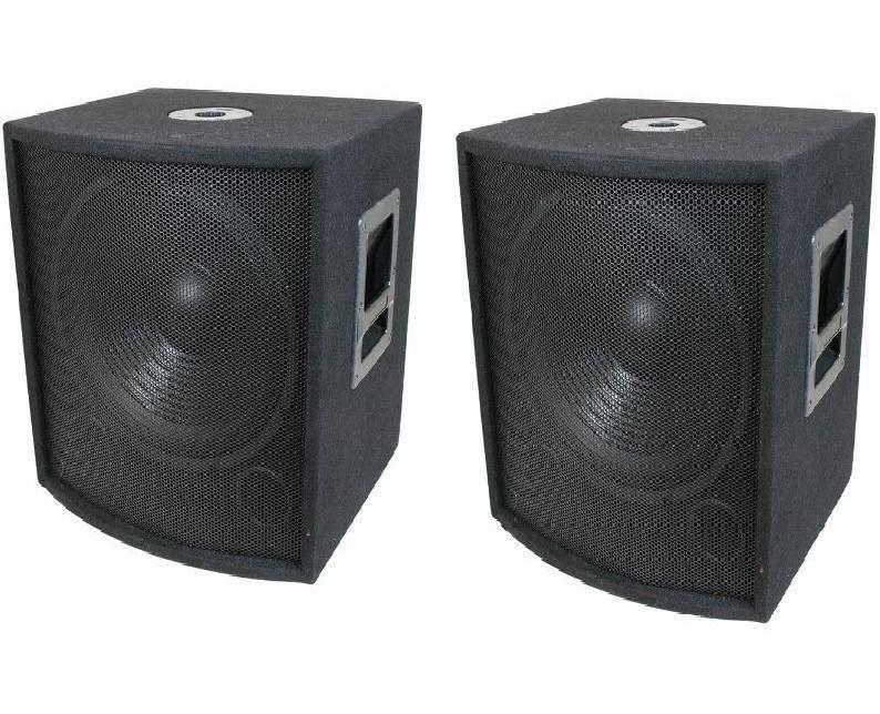 NEW (2) 18  SUBWOOFER Speakers PAIR.Woofer Sub w  Box.DJ.PA.BASS.Pro Audio.Sound