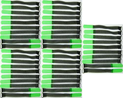 50 Klett Kabelbinder 160 x 16 mm neongrün FK Kabelklettband Kabelklett Klettband