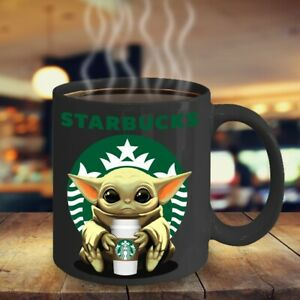 Starbucks Yoda Black Coffee Mug 11 Ounces Funny Baby Yoda Starbucks Coffee Mug Ebay