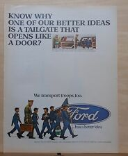 1967 magazine ad for Ford - Better Ideas, tailgate that opens like a door