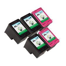5PK HP 60XL Ink Cartridge CC641WN CC644WN PhotoSmart C4780 C4783 C4795 D110a