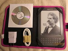 Amazon Kindle Keyboard- 3G-Wi-Fi-1200 Books on CD-No Ads-Bundle-See Pictures