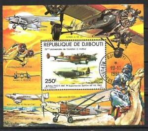Avions-Djibouti-29-bloc-oblitere