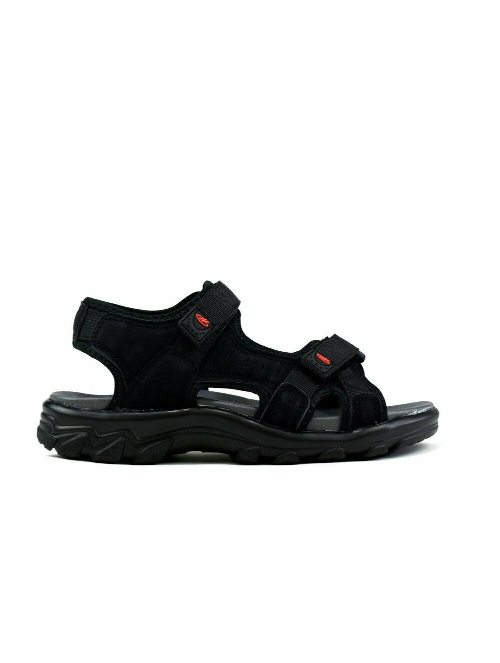 Airfoot Comfort Men's Comfy Double Strap Easy Fasten Summer Outdoor Sandals Blac