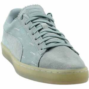 Puma-Suede-V2-X-Pink-Dolphin-Lace-Up-Mens-Sneakers-Shoes-Casual-Blue