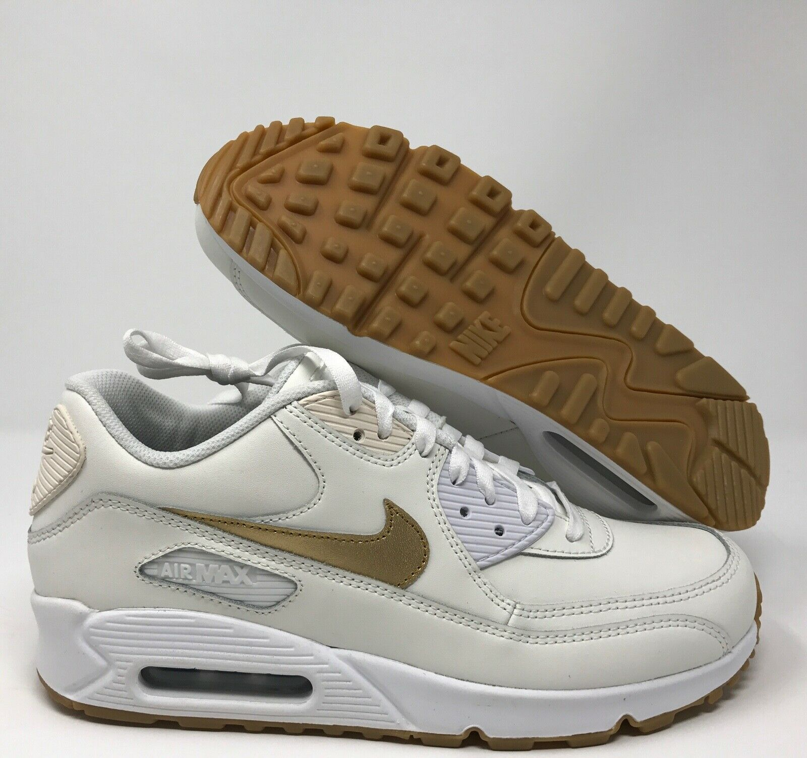 on sale 4ee50 f7440 AIR MAX 90 ID WHITE-gold-GUM SZ 8.5 NIKE BROWN noofuy2691-Men's ...