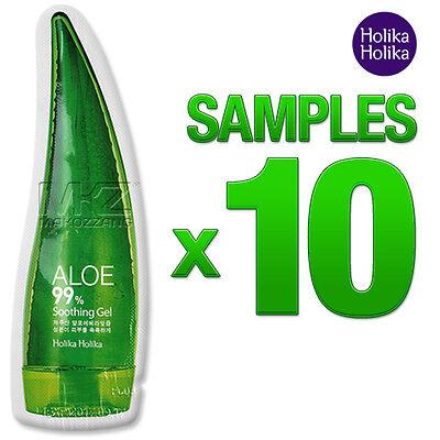 Holika Holika Aloe 99% Soothing Gel 10pcs 50ml Moisturizers Natural Cosmetic New