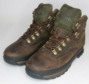 Timberland-Euro-Classic-Leather-Hiking-Boots-Brown-95100-Men-039-s-Size-8-5