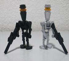 2)Assassin Droid Lot 8015 7930 8128 Silver Elite Star War LEGO Minifigure Figure