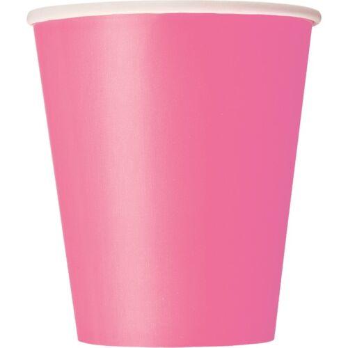 Hot Bright Pink 270ml Paper PartyCelebrationAnniversary BBQ Birthday