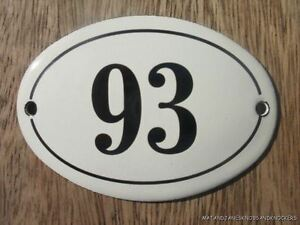 SMALL ANTIQUE STYLE ENAMEL DOOR NUMBER 84 SIGN PLAQUE HOUSE NUMBER SIGN Przedmioty z metalu