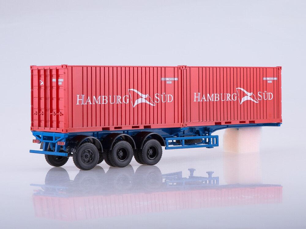 RARE    Container Trailer Hamburg Sud Maz 938920 Aist 1 43