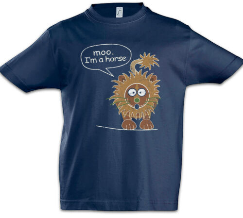 Moo I/'m A Horse Kids Boys T-Shirt Modern Phil Fun Family Dunphy Lion Symbol