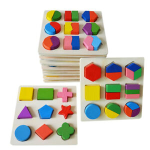 Wooden Toy Gift Baby Kids Intellectual Developmental Educational Early Learn WD