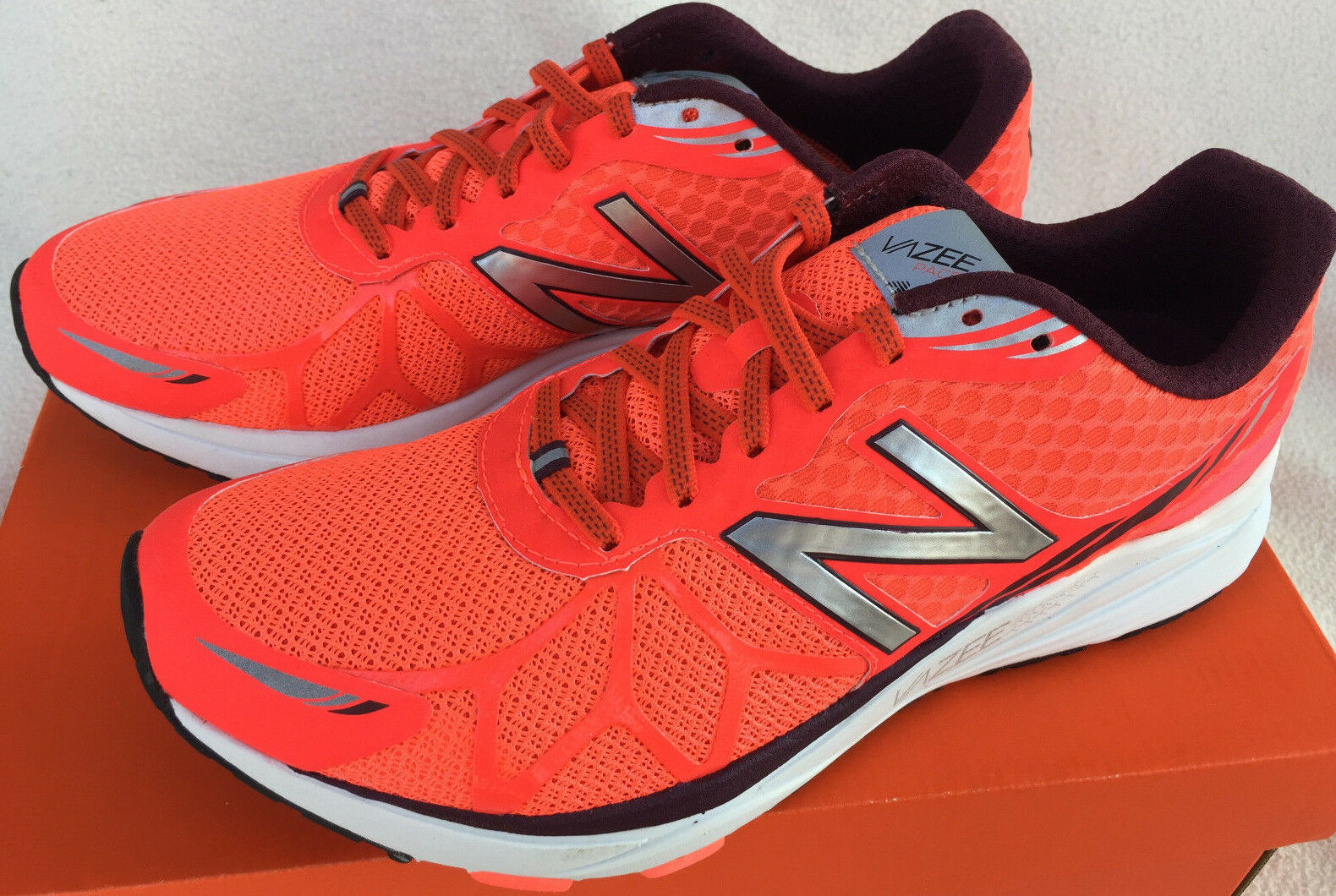 New Balance Vazee Pace MPACEWO Race Orange Marathon Running Shoes Men's 8.5 new