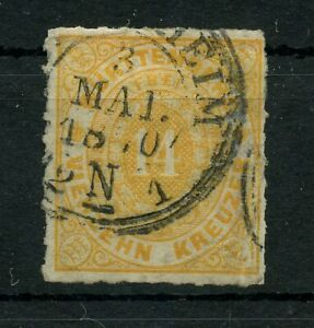 Old-Germany-Wurttemberg-1869-Mi-41c-Postmarked-2