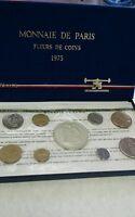 FRANCE 9 Coins 1975 FLEURS DE COINS FDC Mint Set