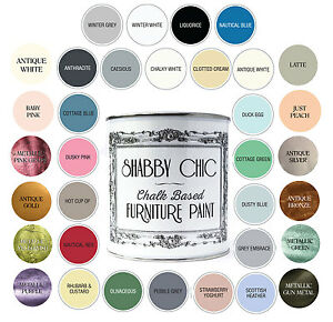 Image Is Loading SHABBY CHIC FURNITURE PAINT CHALKY MATT FINISH WATER