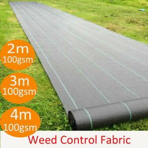 Heavy Duty Woven Weed Control Fabric Membrane Ground Cover Sheet Landscape Mat