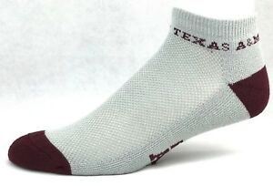 For-Bare-Feet-034-Money-034-No-Show-Ankle-Socks-Texas-A-amp-M-Aggies