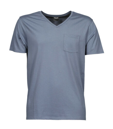 3XL Teejays T-Shirt Men/'s Deep V-Neck Cotton short Sleeved Chest Pocket S