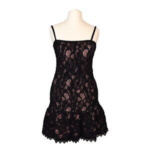 b0c6c214c10 The Kooples Lace Dress | Black & Pink | Peplum, LBD, Strapless | FR ...
