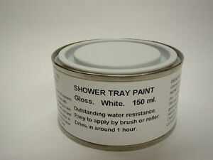 Image Is Loading 1 X 150ml Gloss White Shower Tray And