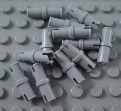 New LEGO Lot of 2 Light Bluish Gray 3L 4 Pin Technic Connector Pieces
