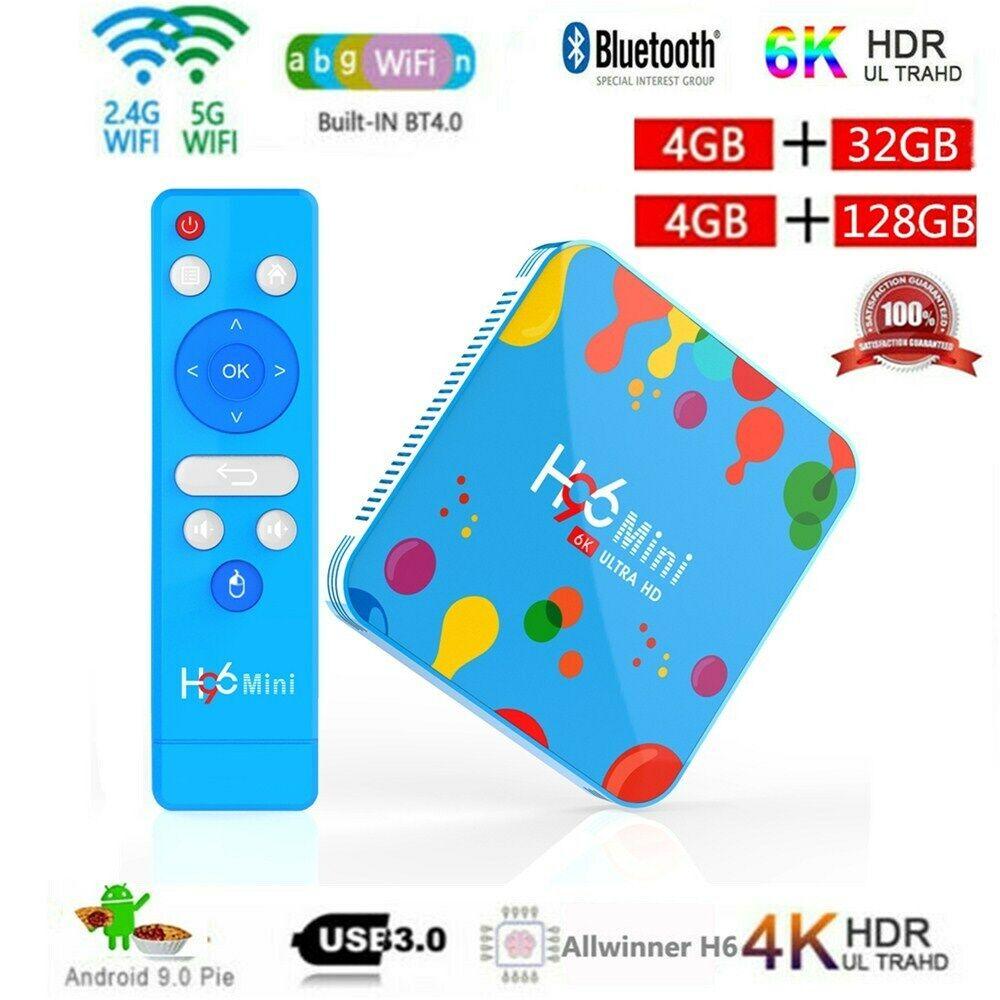 H96 Max Mini H6 6K Android9.0 TV Box 32/128GB 4-Core WiFi BT4.0 RK3318 LOT G3V5 box g3v5 h96 lot max mini rk3318 wifi