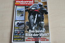 164686) BMW R 1100 S MZ 1000 S - Motorrad Reisen Sport 03/2004