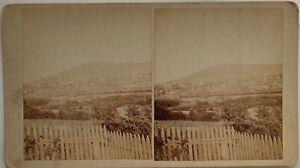 Ville A Identificare Foto Stereo 10x17,5 CM Vintage Albumina c1890