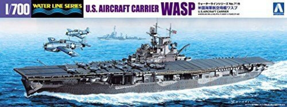 Aoshima 1 700 Water Line Series United States Navy aircraft carrier WASP pl F S