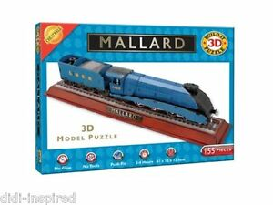 Mallard Train Locomotive 3D Model Puzzle Jigsaw 155 Pieces for 8 years +