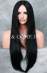 HEAT-SAFE-Lace-Front-WIG-So-Realistic-Black-Straight-Hair-VFJM-1