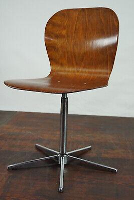 70er Vintage Drehstuhl Schreibtisch Stuhl Architektenstuhl Pagholz /& Chrom 60er