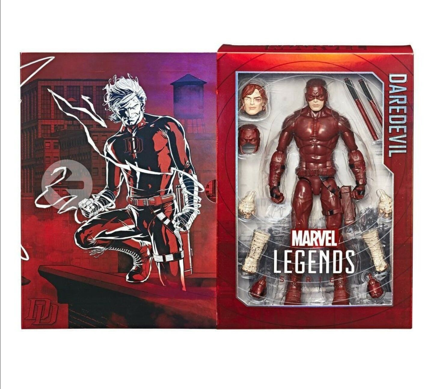 Marvel Legends 12  Series DAREDEVIL SDCC Exclusive Exclusive Exclusive w  Interchangeable Head Hands 18f133