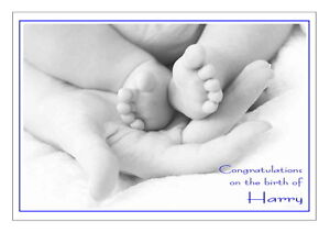 PERSONALISED-NEW-BABY-GIRL-BOY-CONGRATULATIONS-CARD-BLACK-amp-WHITE