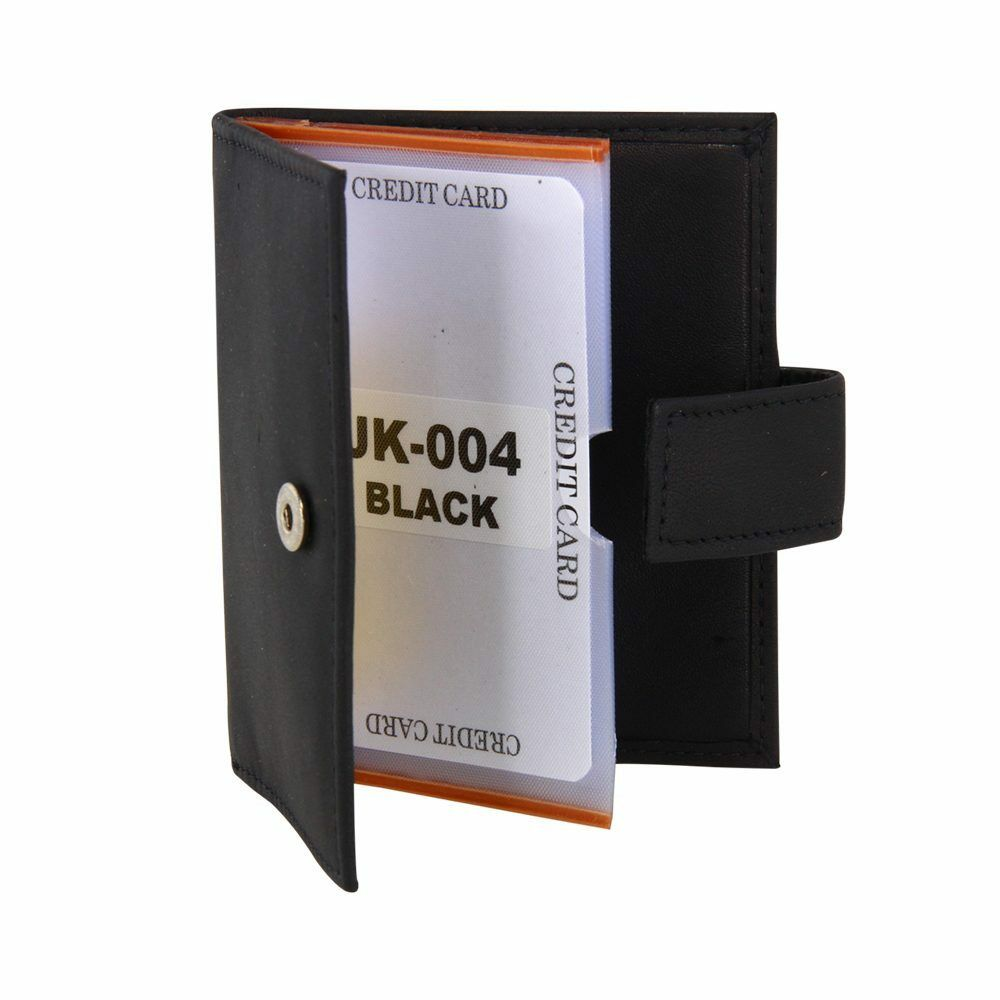 Jacaru Kangaroo Card Holder - - Holder Black 60007b