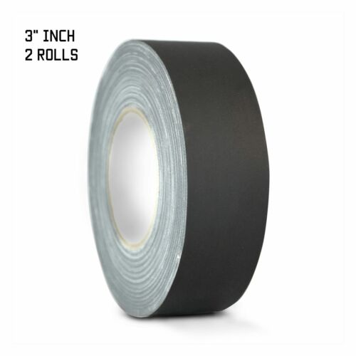 """3/"""" X 60 YARD BLACK NO RESIDUE 2 PACK OF GAFFERS STAGE TAPE"""