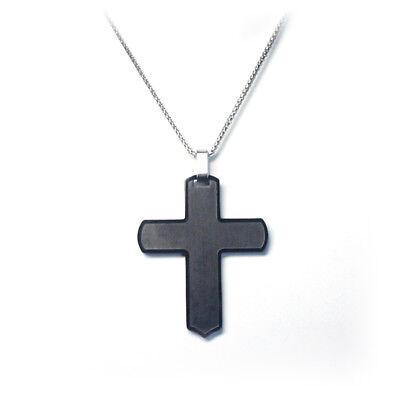 Black Cross ++ Edelstahl Kreuz ++ Name O. Datum Als Gravur Möglich ++ Neu (bc) Up-To-Date-Styling