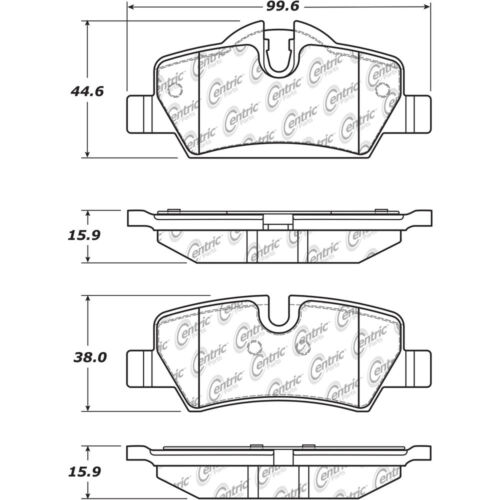 Disc Brake Pad Set Rear Centric 105.18000 fits 14-19 Mini Cooper