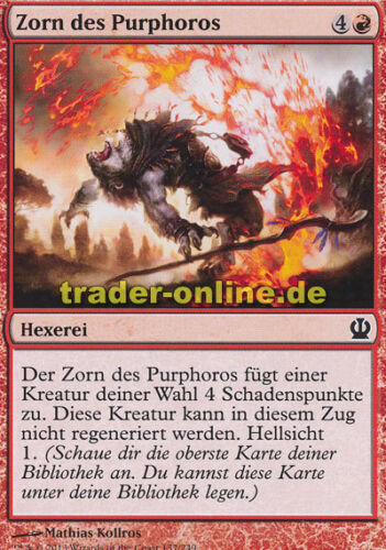 4x Zorn des Purphoros Rage of Purphoros Theros Magic