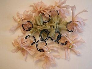 Lot of 9 silk flower napkin rings chateau x by jane krolik ebay image is loading lot of 9 silk flower napkin rings chateau mightylinksfo