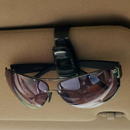 Hot Black Car Sun Visor Glasses Sunglasses Card Ticket Holder Clip Universal CA