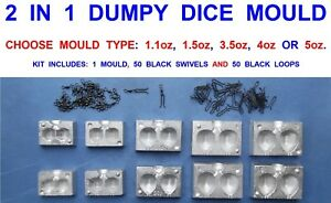 2 IN 1 DUMPY DISTANCE PEAR MOULD 2,2.5,3,3.5,4,5 oz CARP FISHING LEADS WEIGHTS